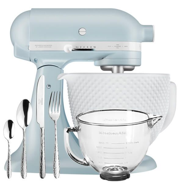 KitchenAid Artisan Mixer 180 Anniversary Misty Blue With FREE Gifts