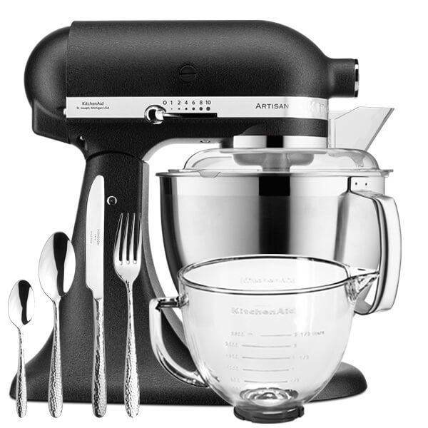KitchenAid Artisan Mixer 185 Cast Iron Black With FREE Gifts