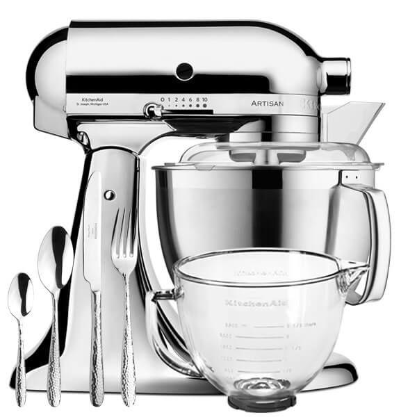 KitchenAid Artisan Mixer 185 Chrome With FREE Gifts