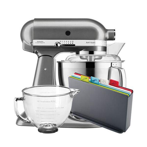KitchenAid Artisan 175 Medallion Silver Food Mixer With FREE Gifts
