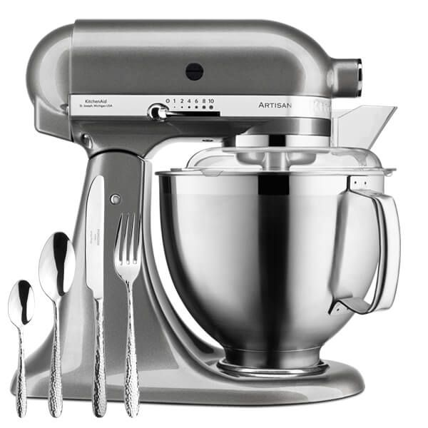 KitchenAid Artisan Mixer 185 Medallion Silver With FREE Gift