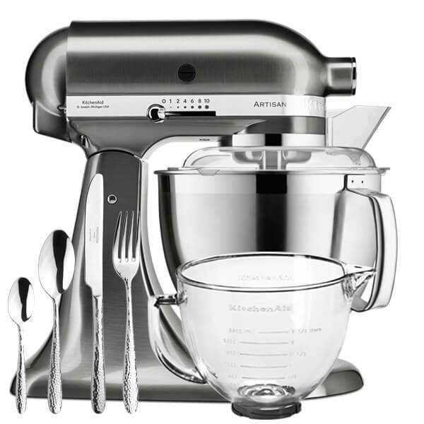 KitchenAid Artisan Mixer 185 Brushed Nickel With FREE Gifts