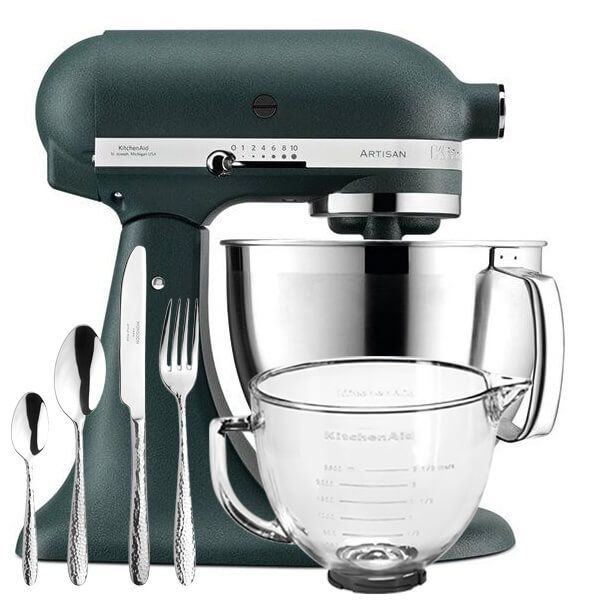 KitchenAid Artisan Mixer 185 Pebbled Palm with FREE Gifts