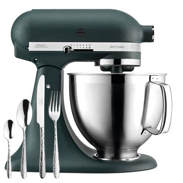 KitchenAid Artisan Mixer 185 Pebbled Palm with FREE Gift