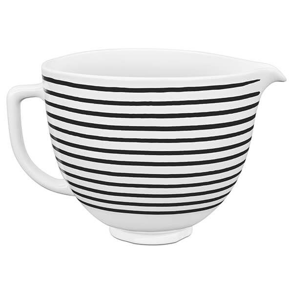 KitchenAid Ceramic 4.8L Mixer Bowl Horizontal Stripes