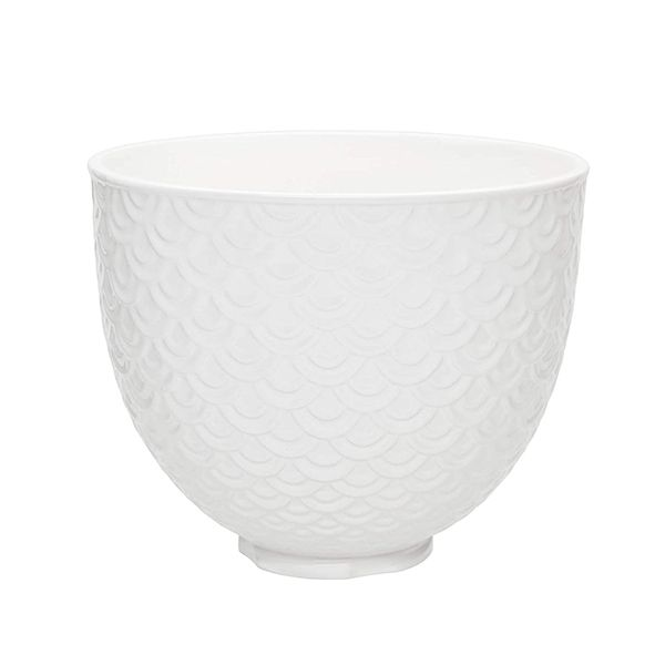 KitchenAid Ceramic Mermaid Lace 4.8L Mixer Bowl - White