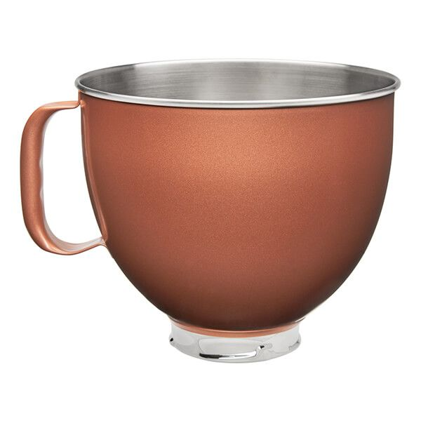 KitchenAid Stainless Steel Copper Pearl 4.8L Mixer Bowl
