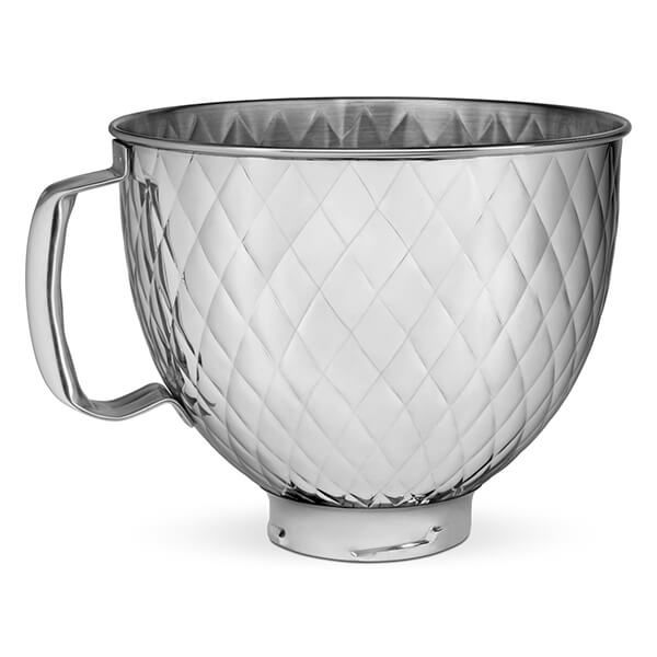 KitchenAid Stainless Steel Silver Quilted 4.8L Mixer Bowl