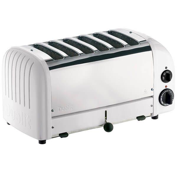 Dualit Classic Vario AWS White 6 Slot Toaster