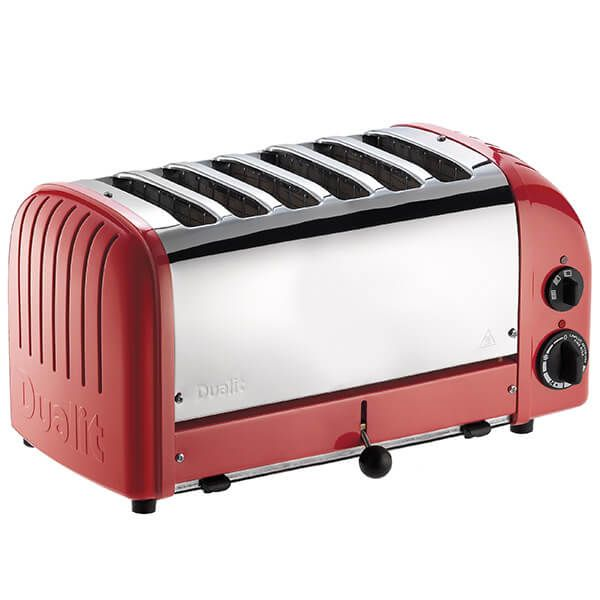 Dualit Classic Vario AWS Red 6 Slot Toaster