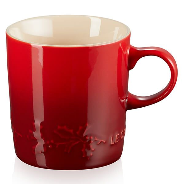 Le Creuset Holly Cerise Stoneware Mug, 350ml