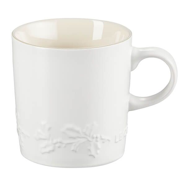 Le Creuset Holly Cotton Stoneware Mug, 350ml