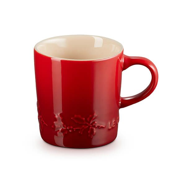 Le Creuset Holly Cerise Stoneware Mug, 200ml