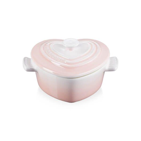 Le Creuset Shell Pink Stoneware Mini Cocotte D'Amour
