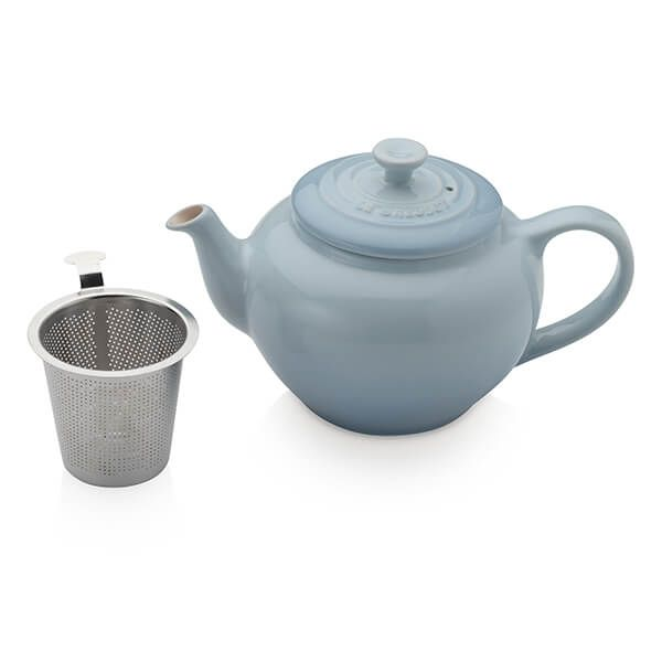 Le Creuset Coastal Blue Petite Teapot with Stainless Steel Infuser