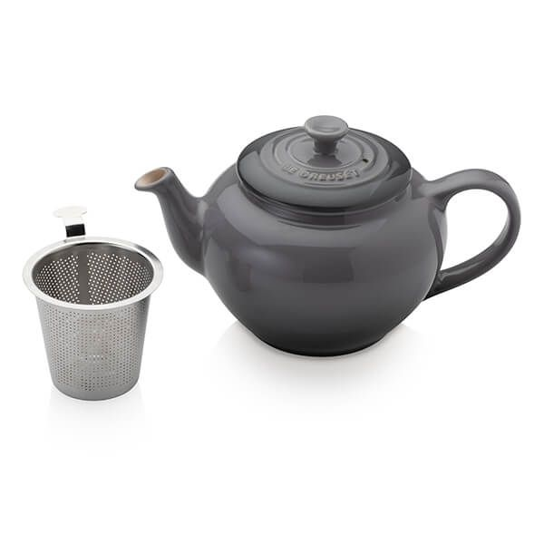 Le Creuset Flint Petite Teapot with Stainless Steel Infuser