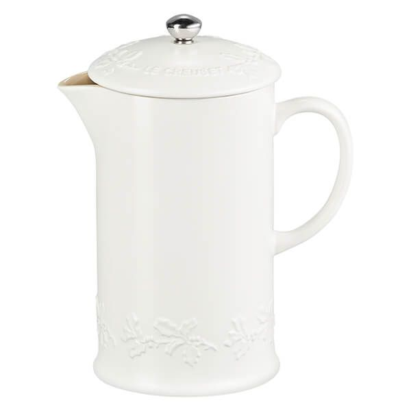 Le Creuset Holly Cotton Stoneware Cafetiere, 1L