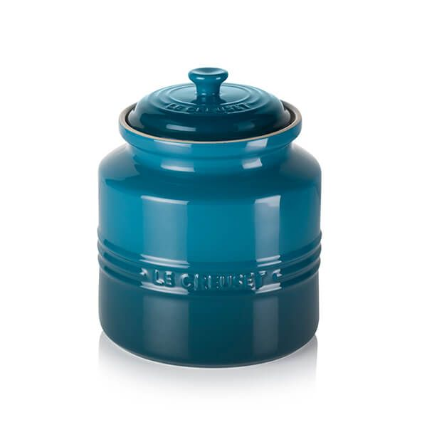 Le Creuset Deep Teal Stoneware Biscuit Jar