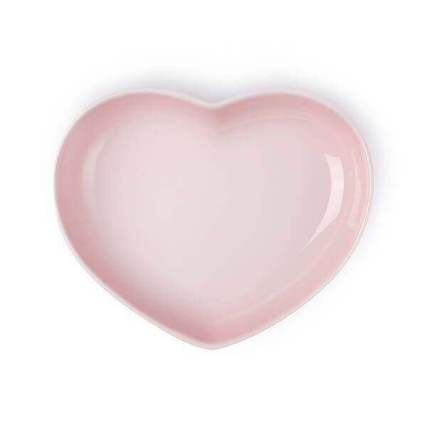 Le Creuset Shell Pink Stoneware Heart Dish