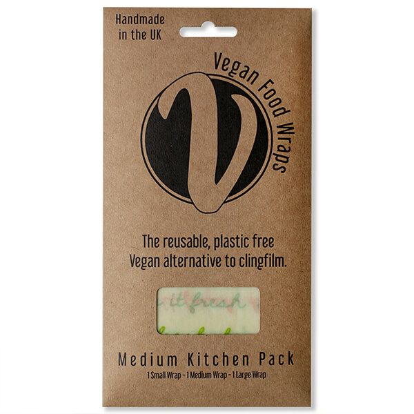 The Vegan Food Wraps Co. Vegan Wax Wrap Medium Kitchen Pack