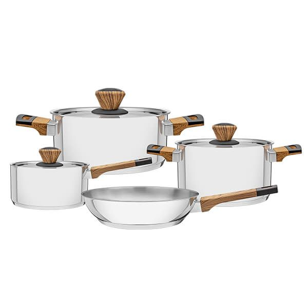 Tramontina 4 Piece Stainless Steel Cookware Set