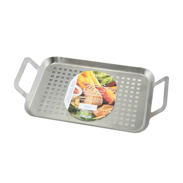Apollo Stainless Steel Small BBQ Grill Pan