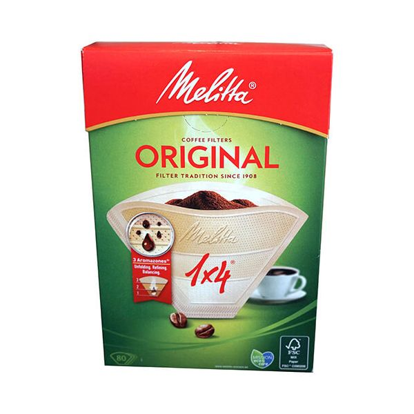 Melitta Original Coffee Filters 1x4 Pack Of 80