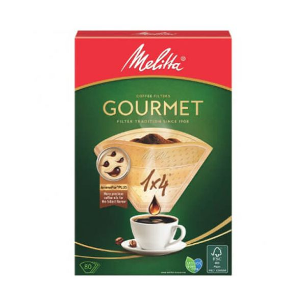 Melitta Gourmet Coffee Filters 1x4 Pack Of 80