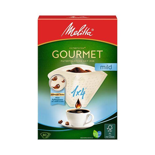 Melitta Gourmet Mild Coffee Filters 1x4 Pack Of 80
