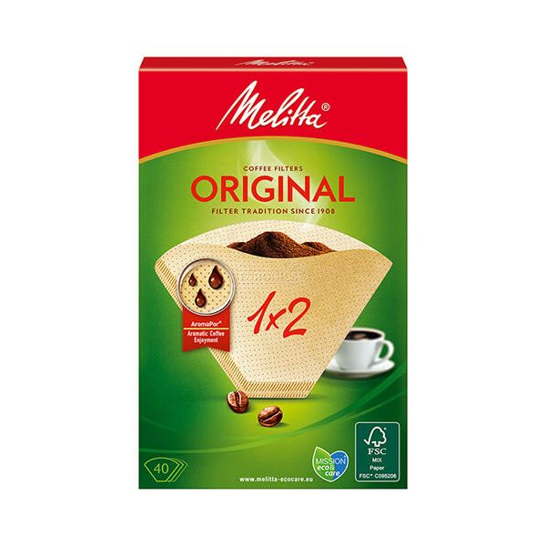 Melitta Original Coffee Filters 1x2 Pack Of 40