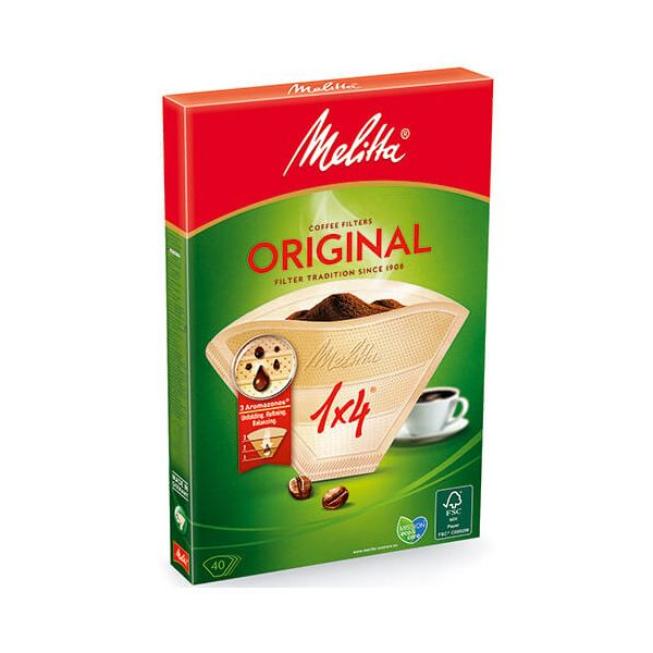 Melitta Original Coffee Filters 1x4 Pack Of 40