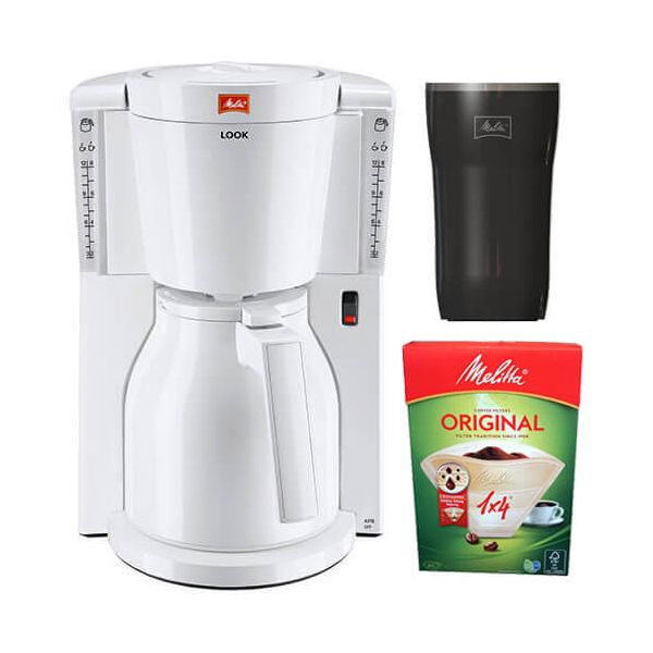 Melitta Look Therm White Filter Coffee Machine 1011-09 With FREE Gifts
