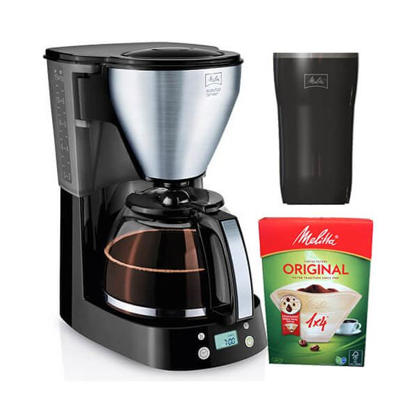 Melitta EasyTop Timer Black Filter Coffee Machine 1010-15 With FREE Gifts