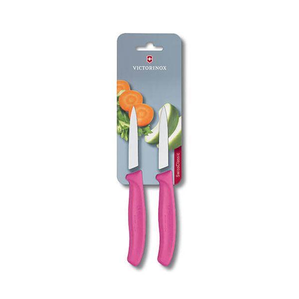 Victorinox Swiss Classic Pink Paring Knife Twin Pack