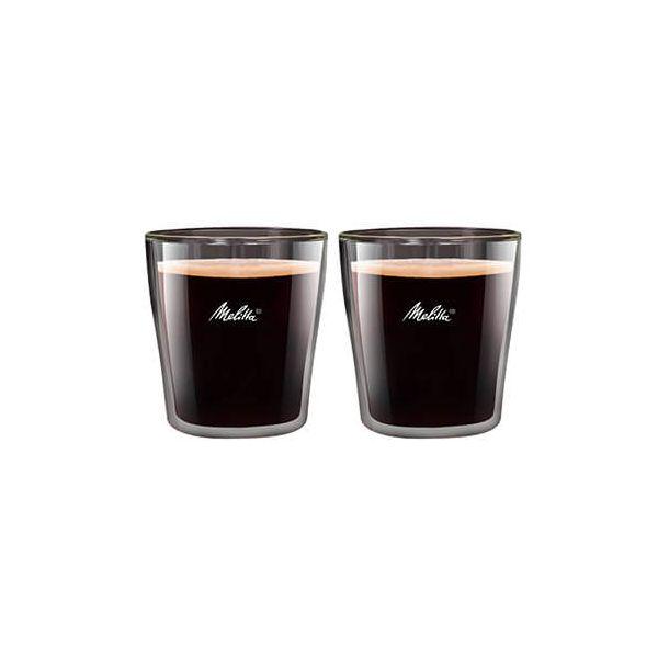 Melitta 80ml Double Wall Espresso Glass Set Of 2