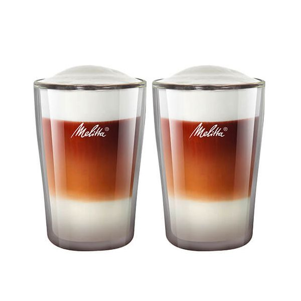Melitta 300ml Double Wall Latte Macchiato Glass Set Of 2