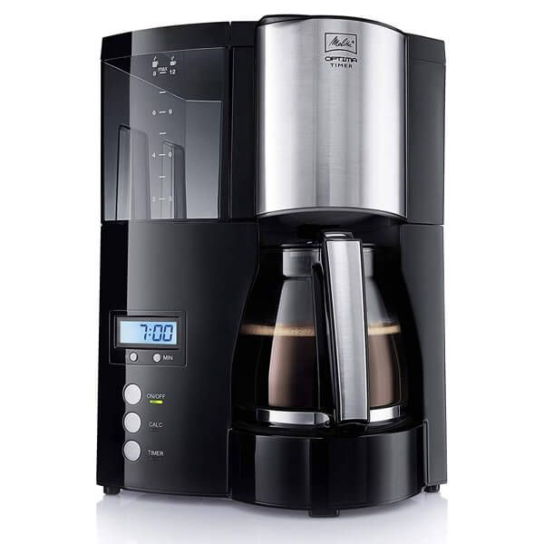 Melitta Optima Timer Black Filter Coffee Machine