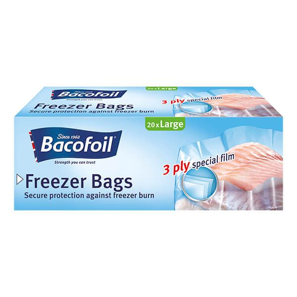 Bacofoil 20 x Large Freezer Bags