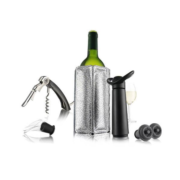 Vacu Vin Wine Essentials Gift Set Black