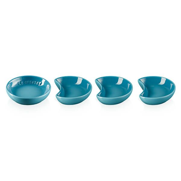 Le Creuset Teal Stoneware Set of 4 Sauce Dishes