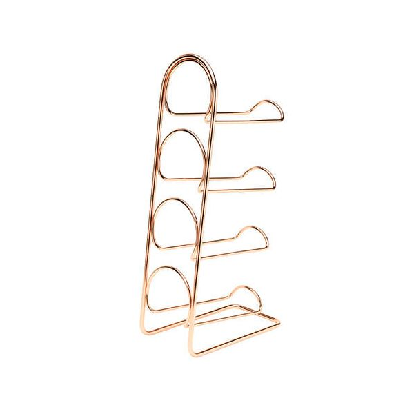 Hahn Pisa Copper Wine Rack - 4 Bottle