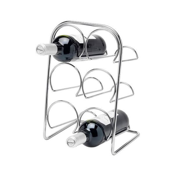 Hahn Pisa Chrome Wine Rack - 6 Bottle