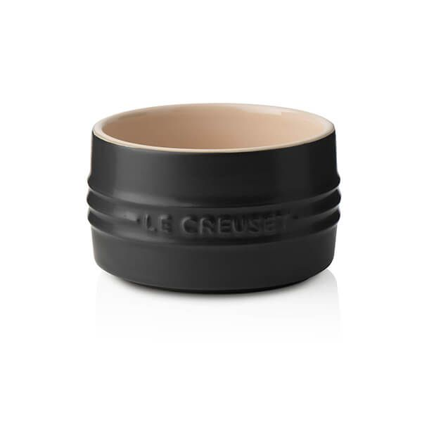 Le Creuset Satin Black Stoneware Stackable Ramekin