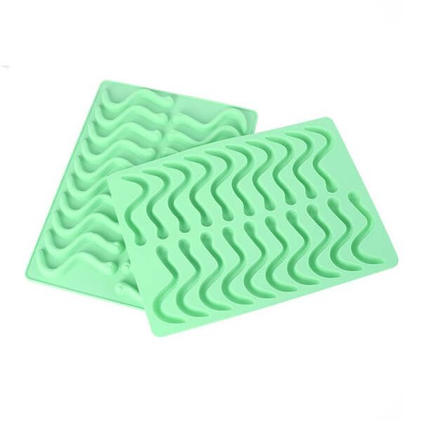 Eddingtons Wriggly Worm Set Of 2 Silicone Trays With Dropper 20 Cup Moulds