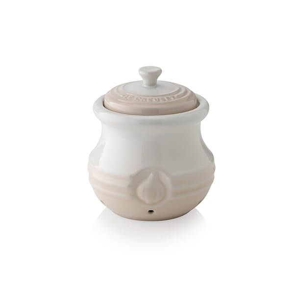 Le Creuset Meringue Stoneware Garlic Keeper