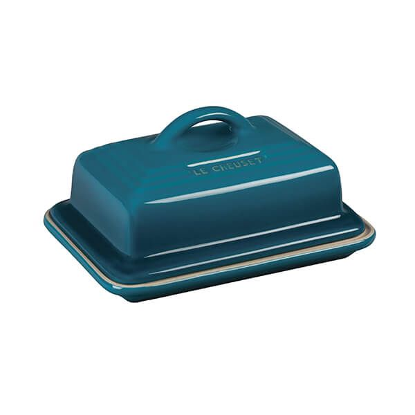Le Creuset Deep Teal Stoneware Butter Dish