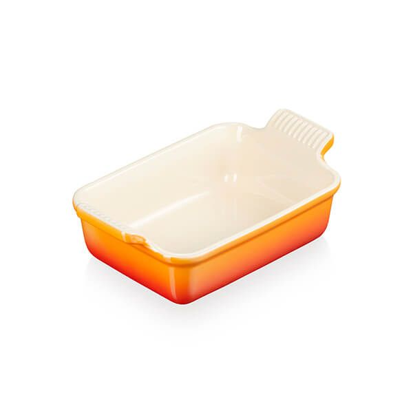 Le Creuset Flame Stoneware Small 19cm Heritage Rectangular Dish