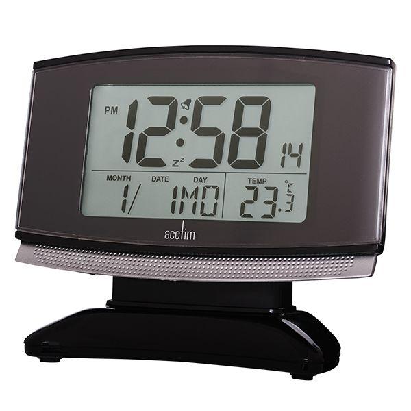 Acctim Acura Alarm Clock Black