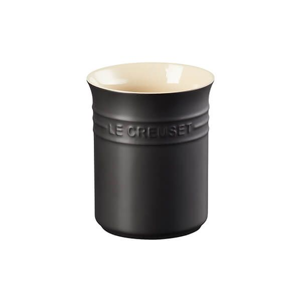 Le Creuset Satin Black Stoneware Small Utensil Pot