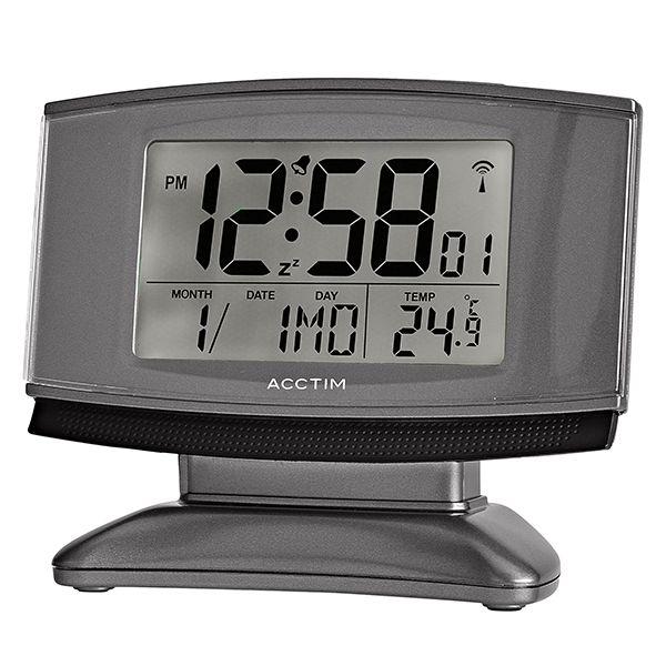 Acctim Cuba Alarm Clock Titanium/Black